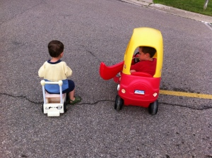 The Littles on wheels.