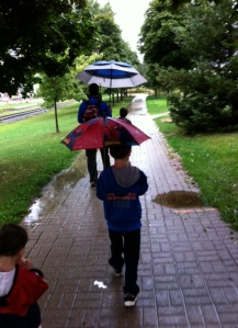 We're going to walk in the rain and you're going to like it.