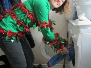 Laundry can be Holly Jolly - see?