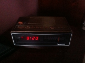 This alarm clock radio is older than I am.