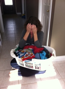 No one folded the laundry for me.