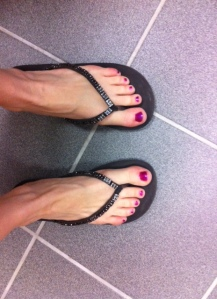 "How can your toes look anything but amazing in ""Gloppy Magenta""?"