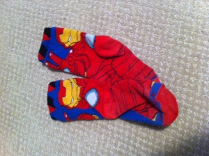Superhero socks are the perfect conversation-starter