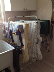 Please note the careful placement and spacing to maximize drying.